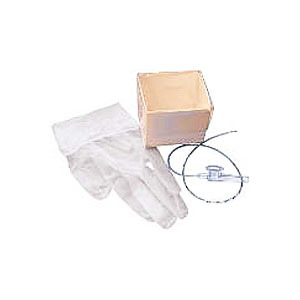 554894T 14 fr Tri Flo Cath N-Glove Economy Suction Kit with 2 Powder Vinyl Gloves