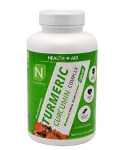 6150150 Turmeric Curcumin Complex Black Pepper Extract Capsule 180 Serve