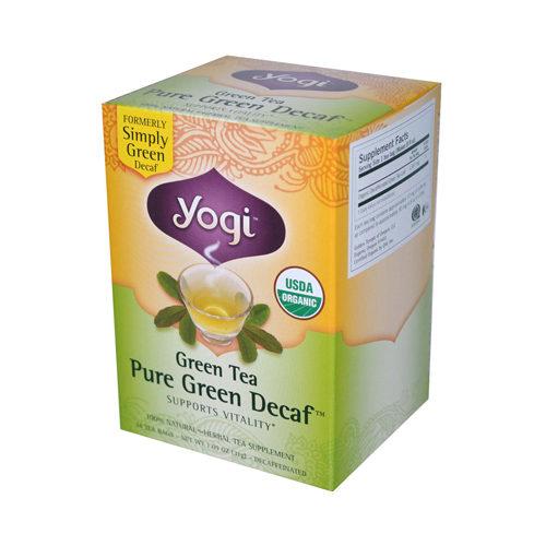 672576 Tea Green Tea Pure Green - Decaf - 16 Tea Bags