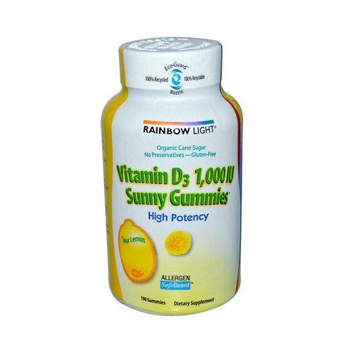 782763 Vitamin D Sunny Gummies Sour Lemon - 1000 IU - 100 Gummies