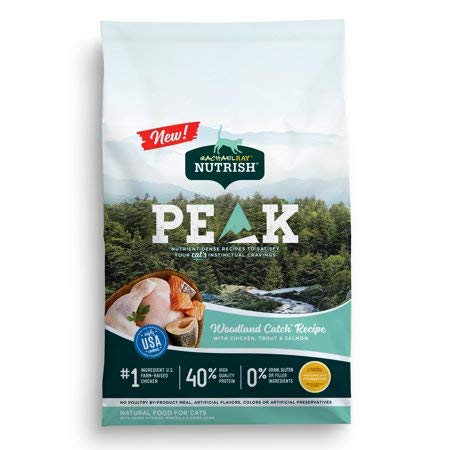 790036 3 lbs Rachael Ray Nutrish Peak Grain Dry Cat Food - Chicken, Trout & Salmon