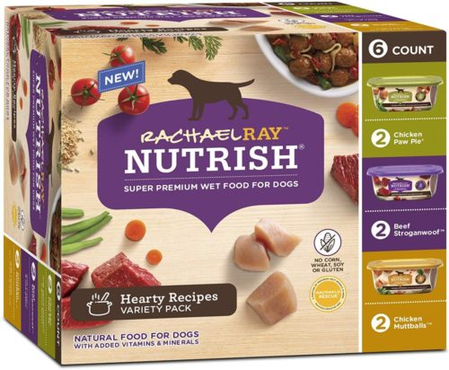 790055 8 oz Rachael Ray Nutrish Natural Hearty Recipes Variety Pack Wet Dog Food