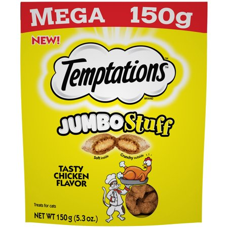 798662 5.3 oz Temptations Jumbo Stuff Tasty Chicken Flavor Cat Treats