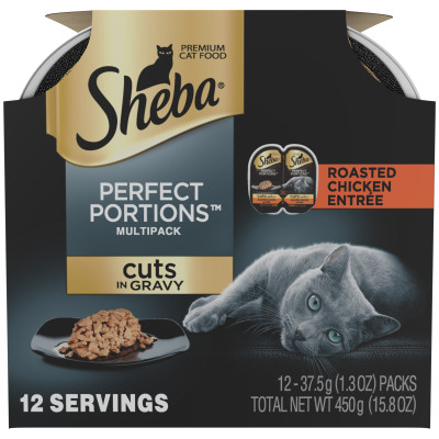 798700 2.65 oz Perfect Portions Cuts in Gravy Roasted Chicken Entree Premium Cat Food