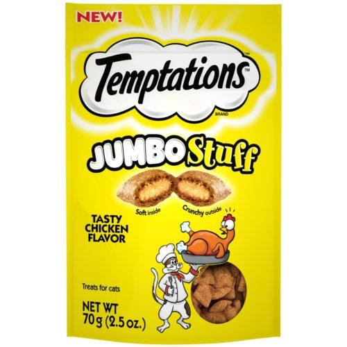 798705 2.47 oz Temptations Jumbo Stuff Tasty Chicken Flavor Cat Treats