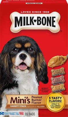 799777 15 oz Milk-Bone Minis Peanut Butter Flavor Variety Dog Treats - Case of 6