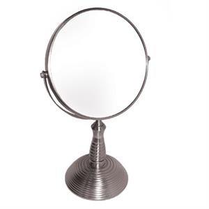 7x with Rib Design Nickel Stand Mirror