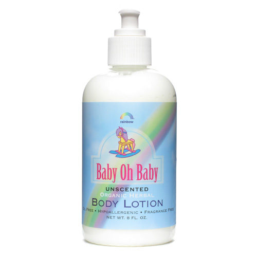 8 Ounce Organic Herbal Baby Body Lotion, Unscented