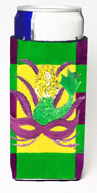 8162MUK Mardi Gras Blonde Mermad With Mask Michelob Ultra s For Slim Cans - 12 oz.