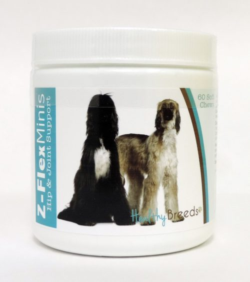 840235100324 Afghan Hound Z-Flex Minis Hip & Joint Support Soft Chews - 60 Count