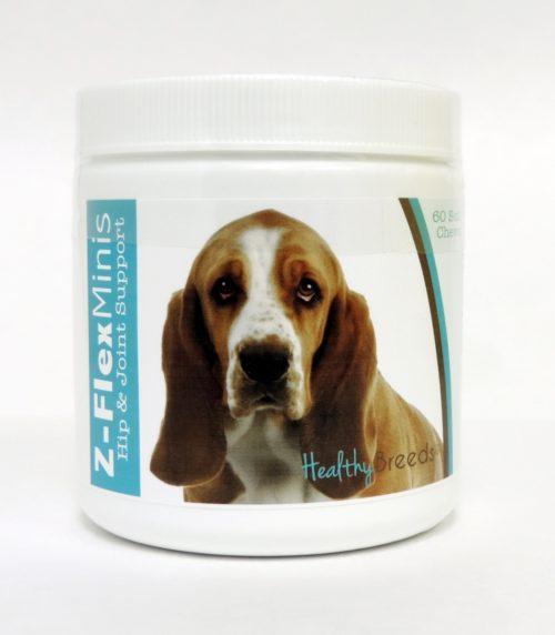 840235101420 Basset Hound Z-Flex Minis Hip & Joint Support Soft Chews - 60 Count