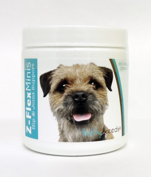 840235101895 Border Terrier Z-Flex Minis Hip & Joint Support Soft Chews - 60 Count