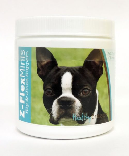 840235103769 Boston Terrier Z-Flex Minis Hip & Joint Support Soft Chews - 60 Count