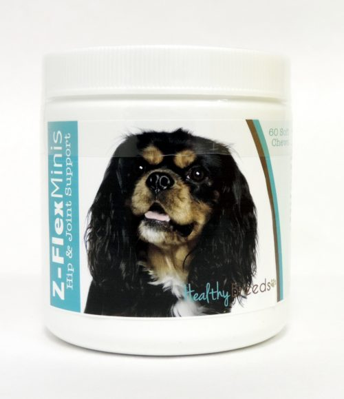 840235104506 Cavalier King Charles Spaniel Z-Flex Minis Hip & Joint Support Soft Chews, 60 Count