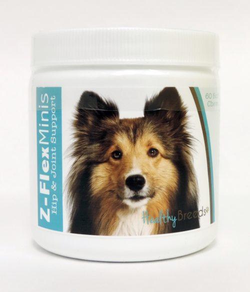 840235114376 Shetland Sheepdog Z-Flex Minis Hip & Joint Support Soft Chews - 60 Count