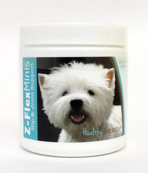 840235116615 West Highland White Terrier Z-Flex Minis Hip & Joint Support Soft Chews, 60 Count