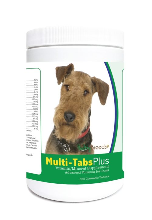 840235122135 Airedale Terrier Multi-Tabs Plus Chewable Tablets - 365 Count