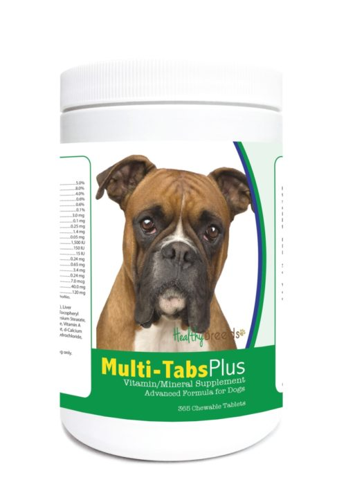840235122500 Boxer Multi-Tabs Plus Chewable Tablets - 365 Count