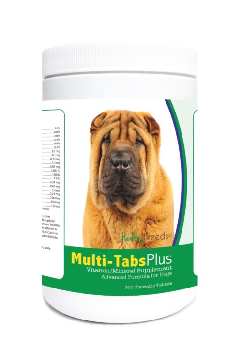 840235122715 Chinese Shar Pei Multi-Tabs Plus Chewable Tablets - 365 Count
