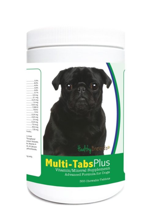 840235123316 Pug Multi-Tabs Plus Chewable Tablets - 365 Count