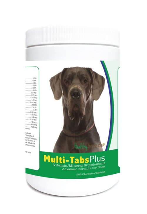 840235123620 Great Dane Multi-Tabs Plus Chewable Tablets - 365 Count