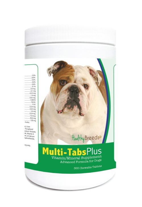 840235124009 Bulldog Multi-Tabs Plus Chewable Tablets - 365 Count