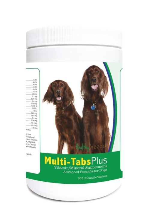 840235124054 Irish Setter Multi-Tabs Plus Chewable Tablets - 365 Count