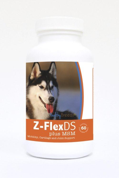 840235125631 Siberian Husky Z-FlexDS plus MSM Chewable Tablets - 60 Count