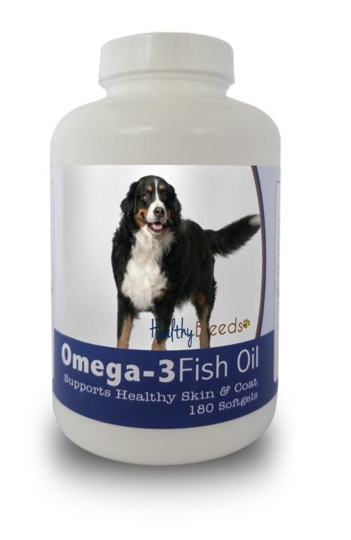 840235141068 Bernese Mountain Dog Omega-3 Fish Oil Softgels, 180 Count