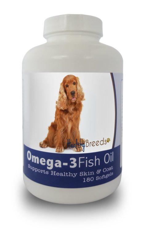 840235141297 Cocker Spaniel Omega-3 Fish Oil Softgels, 180 Count
