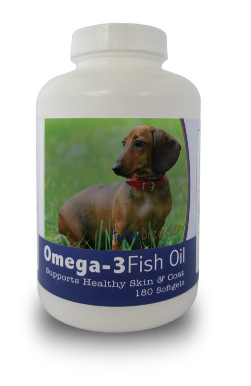 840235141303 Dachshund Omega-3 Fish Oil Softgels, 180 Count