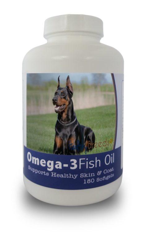 840235141358 Doberman Pinscher Omega-3 Fish Oil Softgels, 180 Count