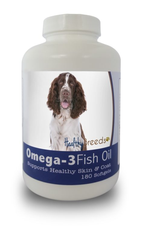 840235141402 English Springer Spaniel Omega-3 Fish Oil Softgels, 180 Count