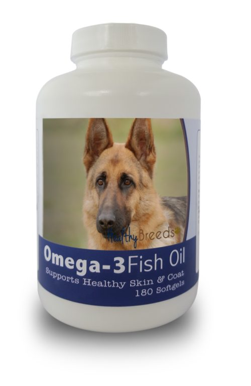 840235141471 German Shepherd Omega-3 Fish Oil Softgels, 180 Count