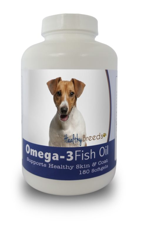 840235141570 Jack Russell Terrier Omega-3 Fish Oil Softgels, 180 Count