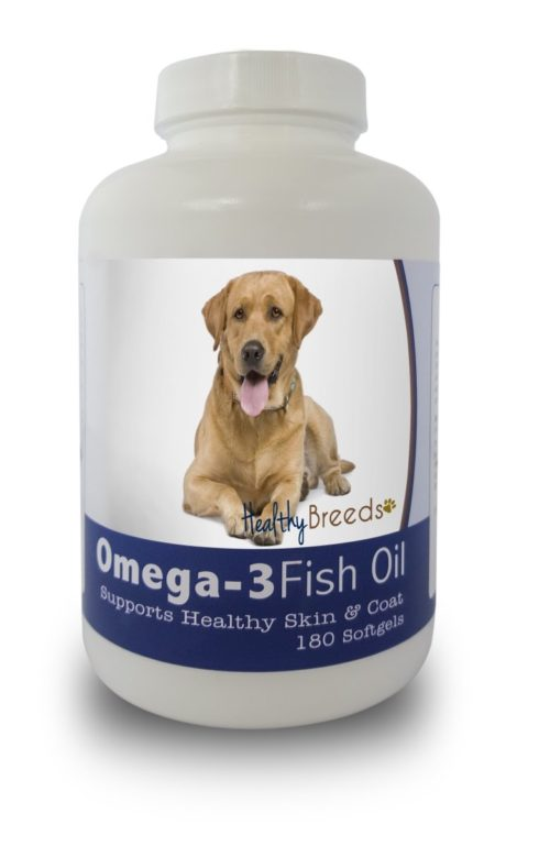 840235141600 Labrador Retriever Omega-3 Fish Oil Softgels, 180 Count
