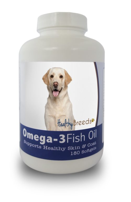 840235141617 Labrador Retriever Omega-3 Fish Oil Softgels, 180 Count