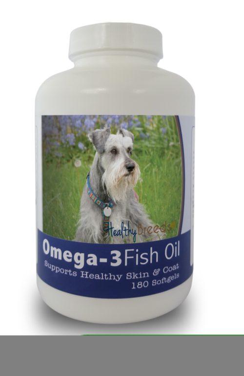 840235141716 Miniature Schnauzer Omega-3 Fish Oil Softgels, 180 Count