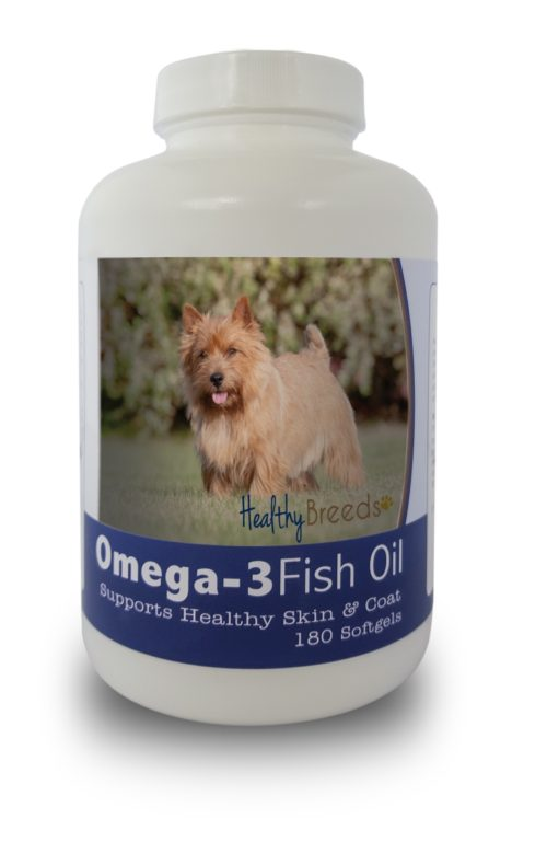 840235141761 Norwich Terrier Omega-3 Fish Oil Softgels, 180 Count