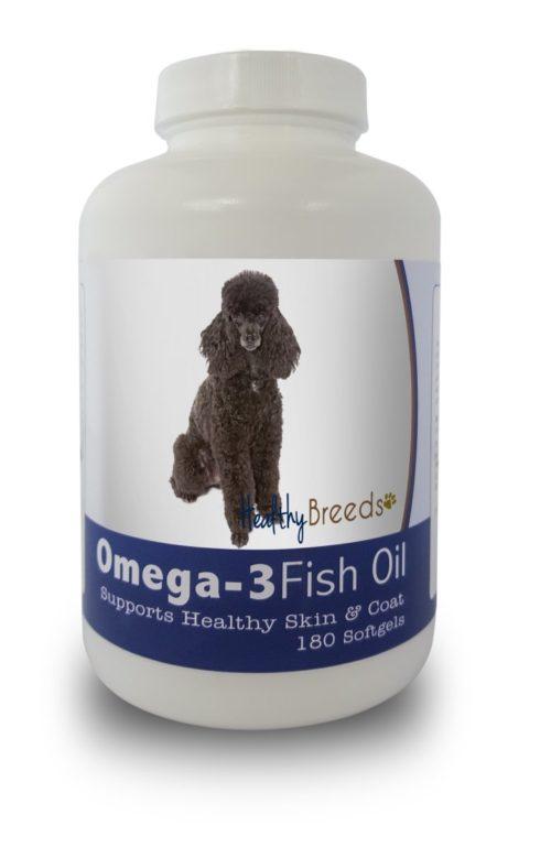 840235141815 Poodle Omega-3 Fish Oil Softgels, 180 Count