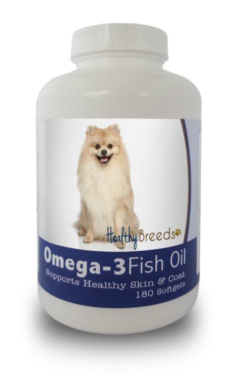 840235141822 Pomeranian Omega-3 Fish Oil Softgels, 180 Count