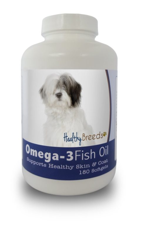 840235141952 Old English Sheepdog Omega-3 Fish Oil Softgels - 180 count