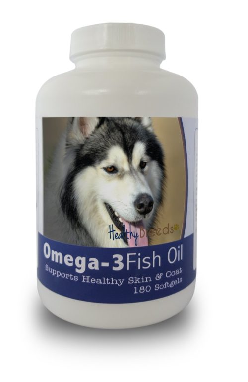 840235141976 Siberian Husky Omega-3 Fish Oil Softgels - 180 count