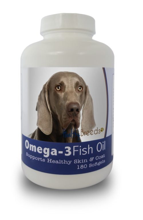 840235142072 Weimaraner Omega-3 Fish Oil Softgels - 180 count