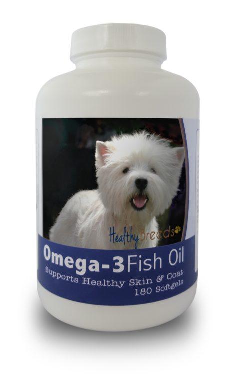 840235142102 West Highland White Terrier Omega-3 Fish Oil Softgels - 180 count