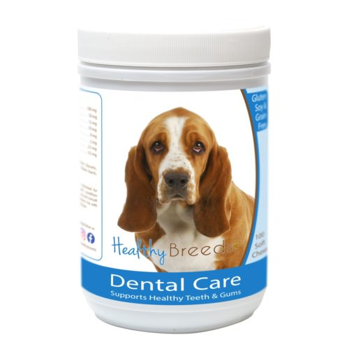 840235162612 Basset Hound Breath Care Soft Chews for Dogs - 60 Count