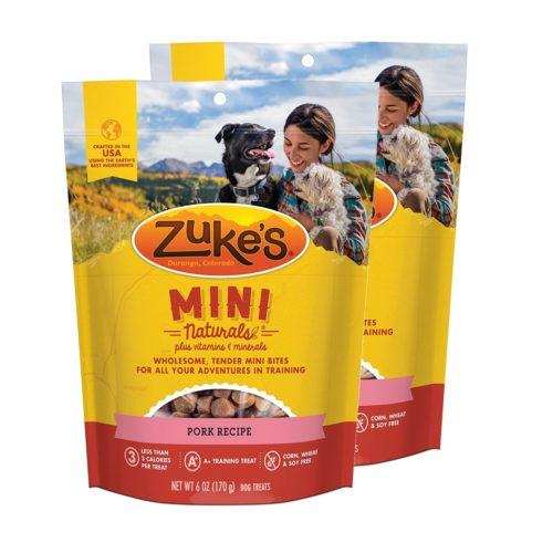 840235168904 6 oz Mini Naturals Pork Recipe Dog Treats - Pack of 2