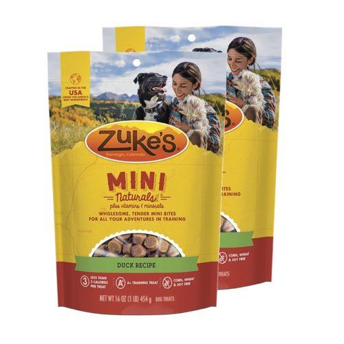 840235168942 16 oz Mini Naturals Duck Recipe Dog Treats - Pack of 2