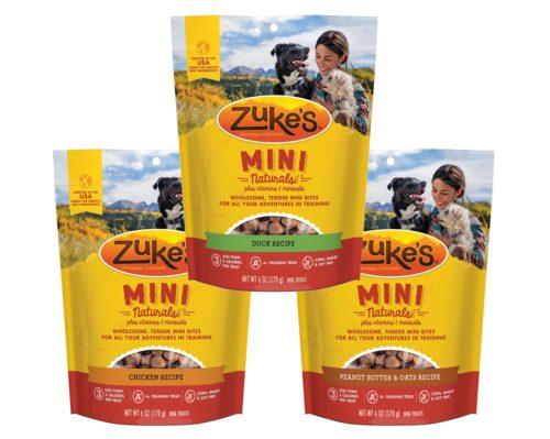 840235169352 6 oz Mini Naturals Dog Treats Varity Pack - Chicken, Duck Recipe, Peanut Butter & Oats Recipe