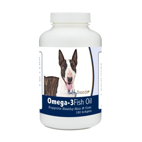 840235184768 Miniature Bull Terrier Omega-3 Fish Oil Softgels, 180 Count